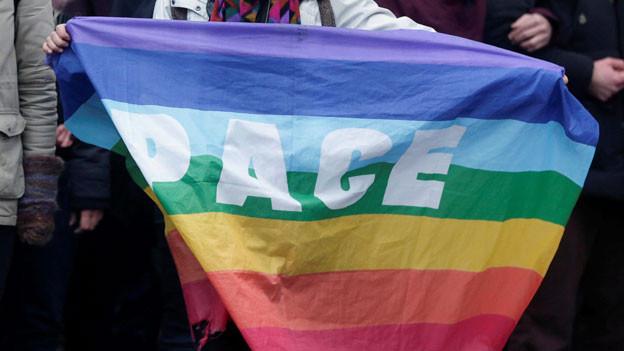 Friedensdemonstration an der Sicherkeitskonferenz in München.