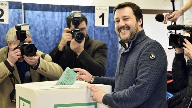 Matteo Salvini Vorsitzender der Lega Nord.