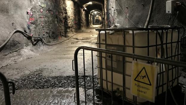 Zu sehen ist die Baustelle des Atommüll-Endlagers Olkiluoto in über 400 Metern Tiefe.