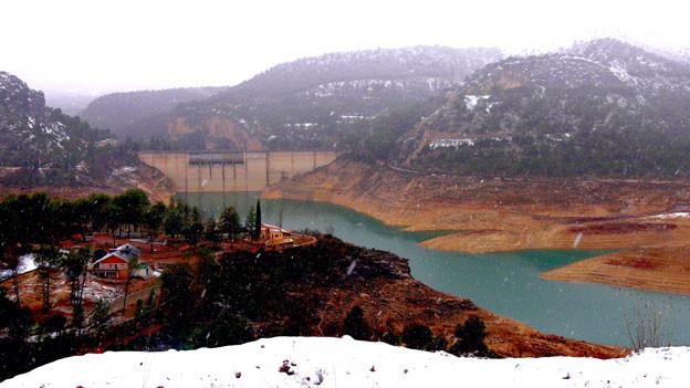 Der Stausee Entrepeñas am Oberlauf des Tajo ist nur noch zu knapp 10 Prozent gefüllt.
