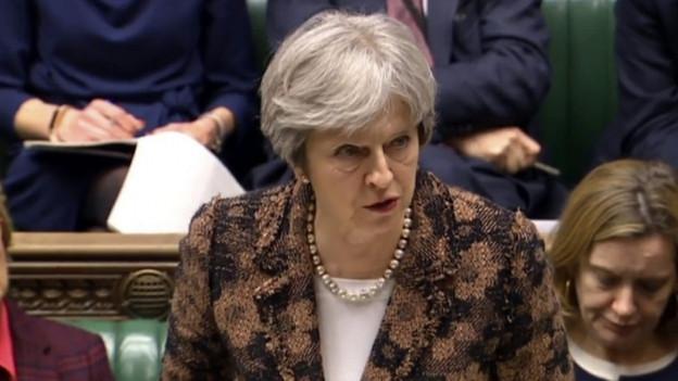 Die britische Premierministerin Theresa May informierte das Unterhaus am Montag über den aktuellen Ermittlungsstand.