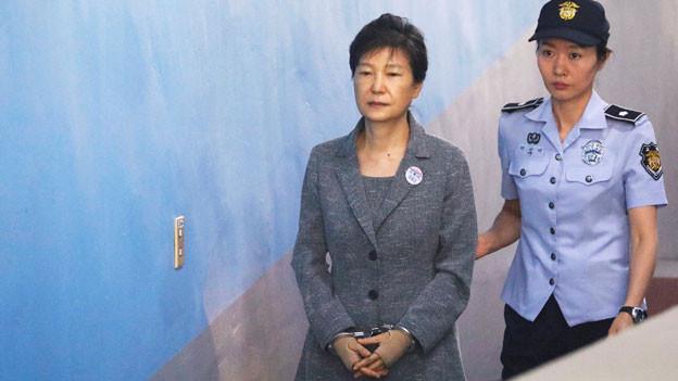 Die ehemalige südkoreanische Präsidentin Park Geun Hye vor Gericht am 25. August 2017 in Seoul.