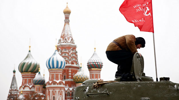 Militärparade in Moskau.