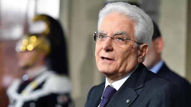 Italiens Staatspräsident Sergio Mattarella.