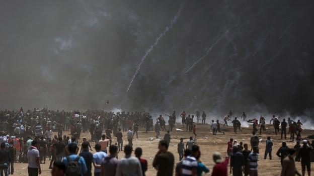 Ausschreitungen im Gaza-Streifen.