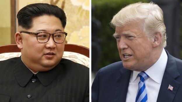 Kim Jong Un dund Donald Trump