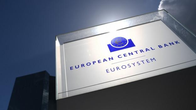 Auf dem Bild zu sehen ist das Logo der europäischen Zentralbank