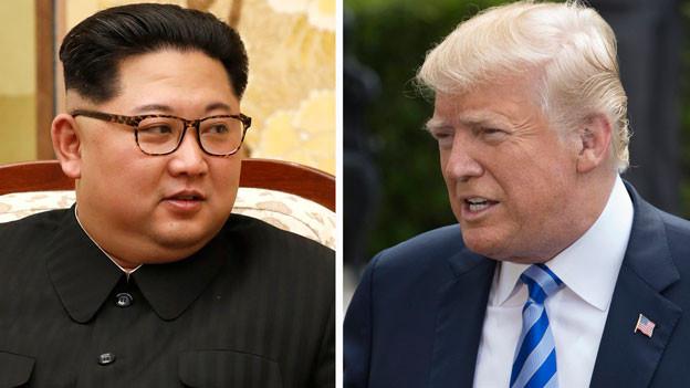 Der nordkoreanische Führer Kim Jong Un (links) und US-Präsident Donald Trump.