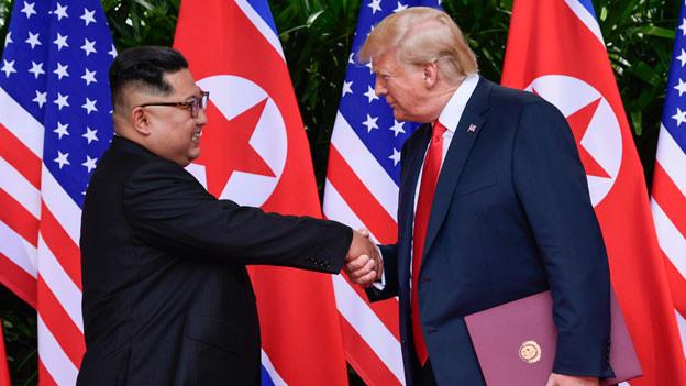 Kim Jong-un, Nordkoreanischer Diktatot (links) und Donald Trump, US-Präsiddent.