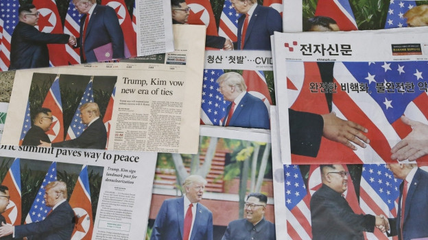 Der Korea-Gipfel war das Thema in der internationalen Presse.