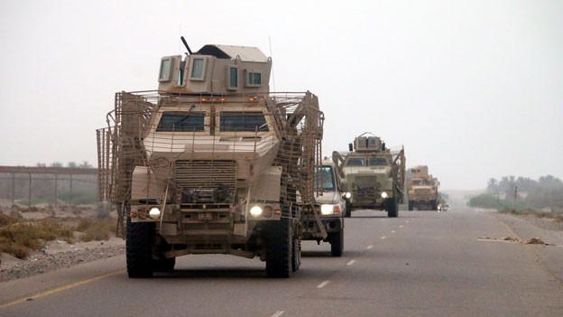 Militärischer Einmarsch in die jementischen Stadt Hudeida.