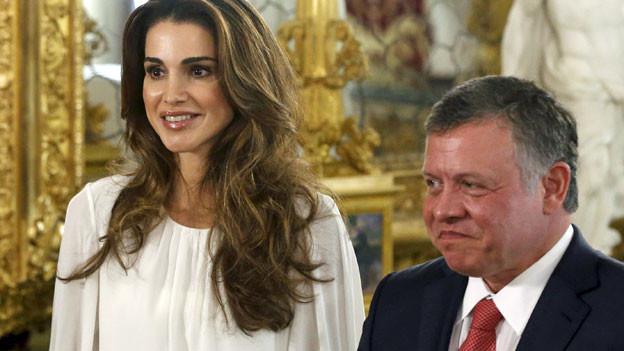 König Abdullah II und seine Frau Rania.