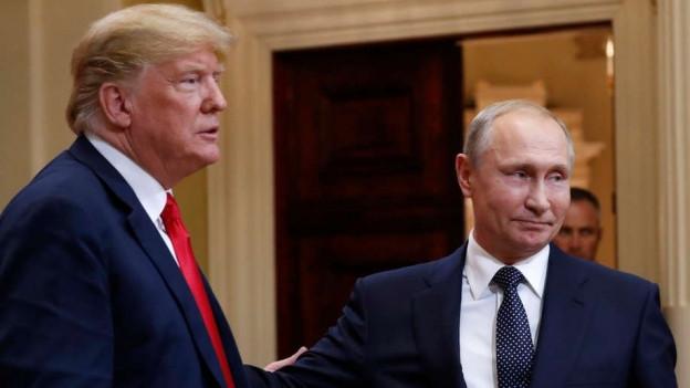 Trump und Putin im Bild.