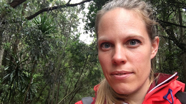 Anna Lemmenmeier zu Besuch im Karura Forest in Nairobi.