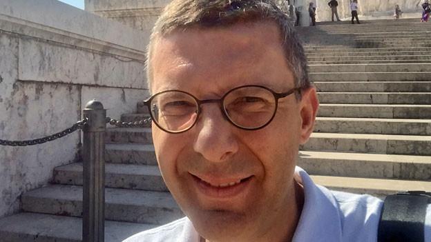 Franco Battel mitten im «alten» Rom: beim Monumento per Vittorio Emanuele.