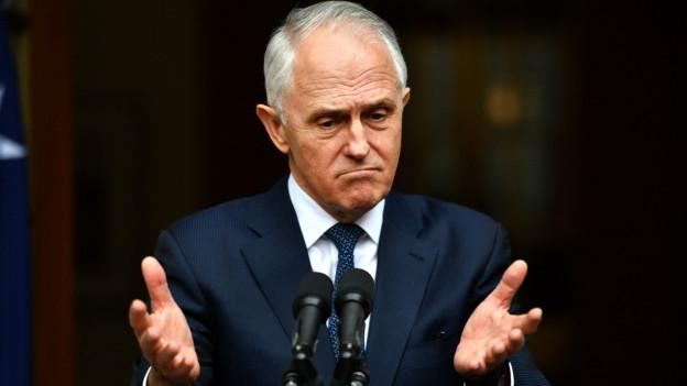Der australische Regierungschef Malcolm Turnbull macht ein besorgtes Gesicht