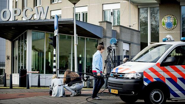 Hauptquartier der Organisation für das Verbot chemischer Waffen (OVCW) in Den Haag, Niederlande.