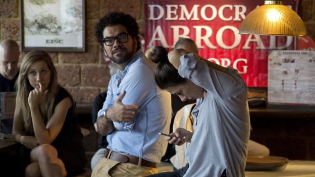 Demokraten im Ausland am Wahlabend.