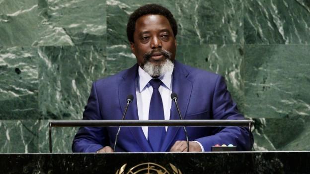 Der Präsident von Kongo Joseph Kabila spricht vor der UNO-Versammlung.