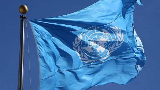 UNO-Fahne im Wind.