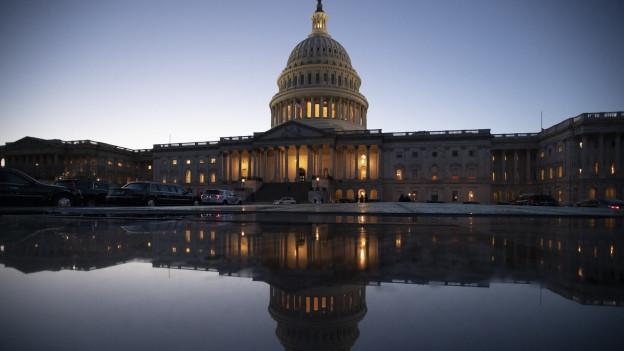 Das Kapitol, der Sitz des Kongresses, am Abend des 21. Dezembers.