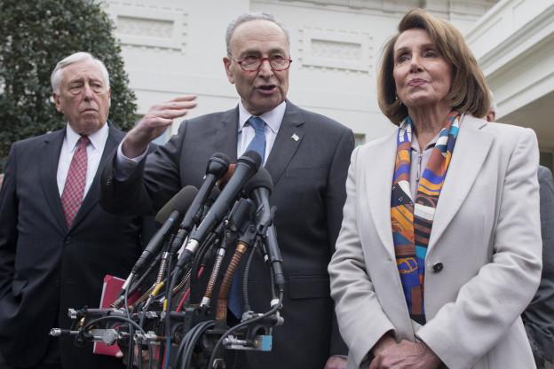 Drei führende Leute bei den US-Demokraten: Steny Hoyer (links), Chuck Schumer (mitte), Nancy Pelosi (rechts)