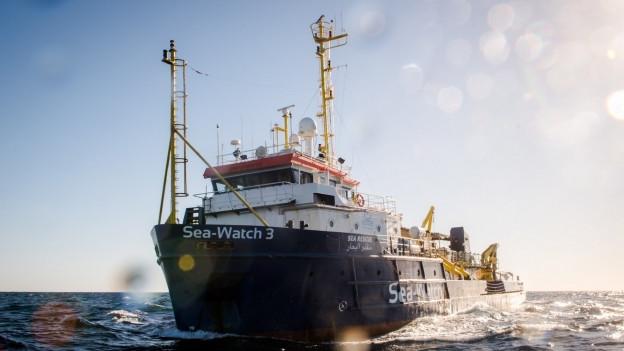 Die Sea Watch 3, das Schiff einer deutschen Rettungsorganisation, liegt derzeit vor Malta.