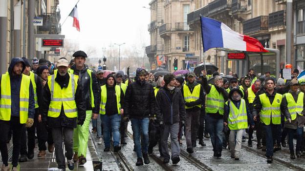 Proteste der «Gilets Jaunes» in Frankreich.