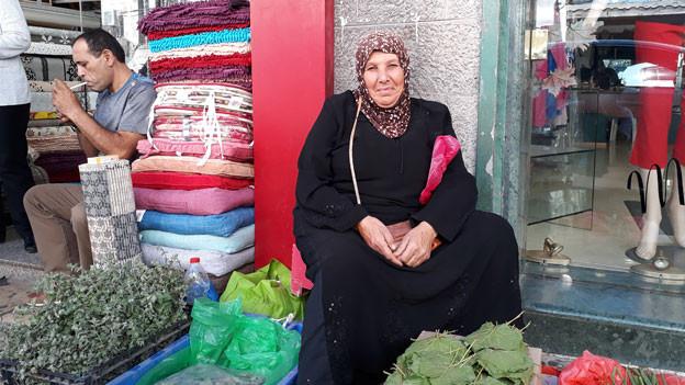 Die palästinensische Bäuerin Imm Mohammed.