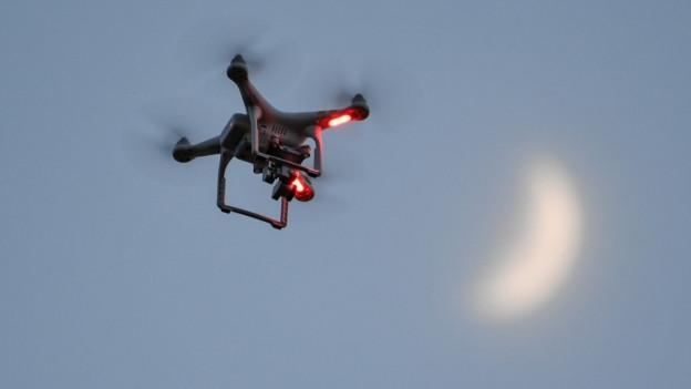 Eine Drohne am Himmel