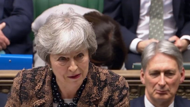 Das Bild zeigt die britische Premierministerin Theresa May.