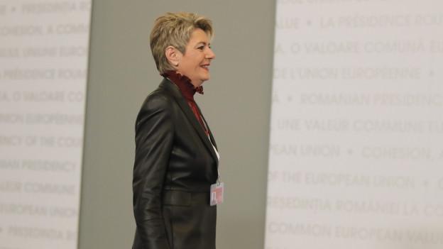 Karin Keller-Sutter am Justiz- und Innenministertreffen in Bukarest