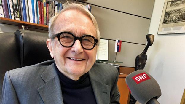 Juraj Stern, der 78-jährige Wirtschaftsprofessor ist Rektor der paneuropäischen Universität in Bratislava.