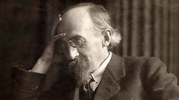 Zu sehen ist Kurt Eisner (1867-1919), prägende Figur der jüngeren Geschichte Bayerns.