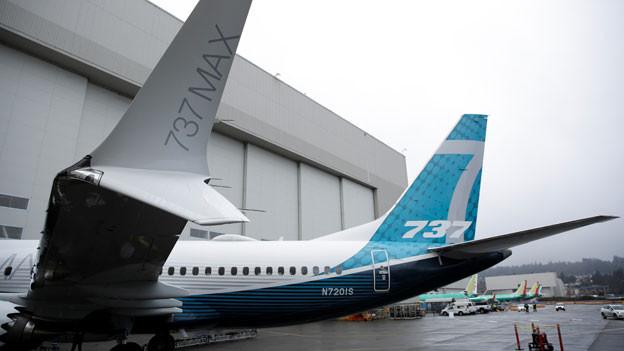 Die erste Boeing 737 MAX 7 wird am 5. Februar 2018 in Renton, Washington, USA, vorgestellt.