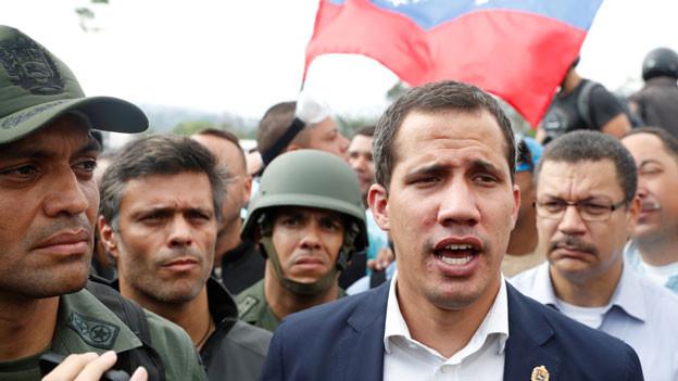 Oppositionsführer Juan Guaido, den viele Nationen als rechtmässigen Interimsherrscher Venezuelas anerkannt haben.