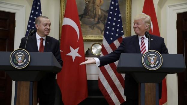 US-Präsident Trump und der türkische Präsident Erdogan bei einem Treffen 2017.