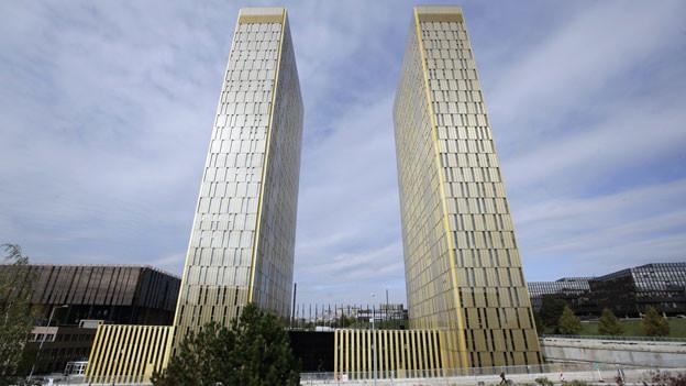 Blick auf das Gebäude des Europäischen Gerichtshofes in Luxembourg.