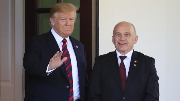 US-Präsident Donald Trump und der Schweizer Bundespräsident Ueli Maurer.