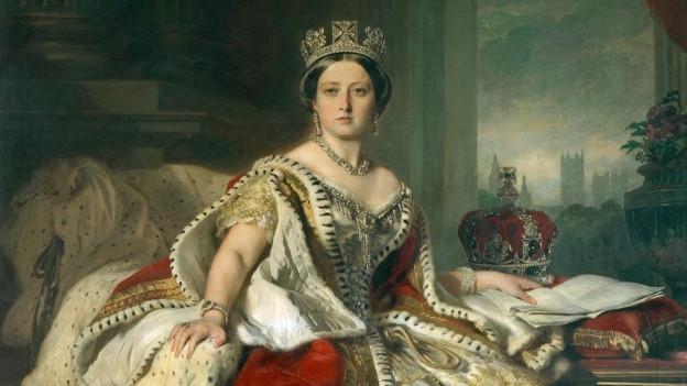 Porträt von Queen Victoria von 1859, gemalt von Franz Xaver Winterhalter.