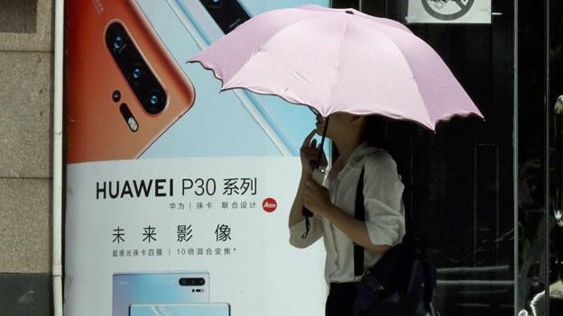 Werbung für Huawei in Peking.