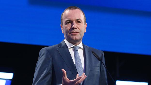 Manfred Weber von der Europäischen Volkspartei (EVP).