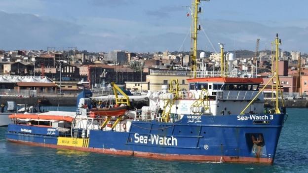 Rettungsschiff in Italien