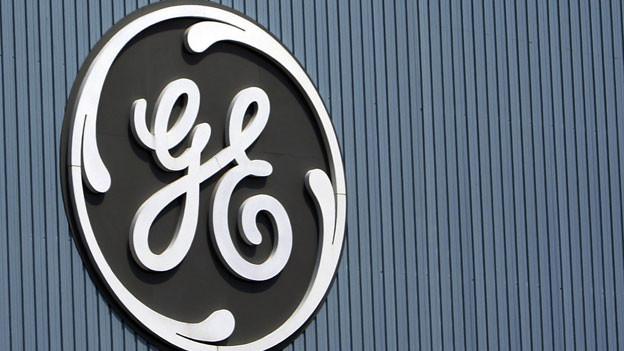 Logo von General Electric in einem Werk in Belfort, Frankreich.