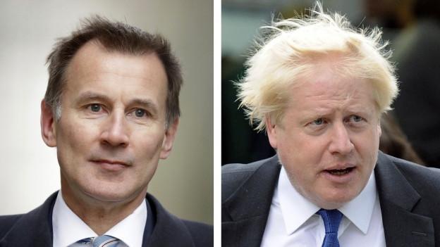 Jeremy Hunt (links) und Boris Johnson (rechts) bewerben sich um die Nachfolge von Theresa May.