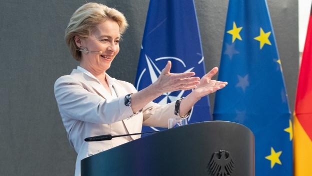 Die deutsche Verteidigungsministerin Ursula von der Leyen bei einem Anlass in Berlin im Mai 2019.