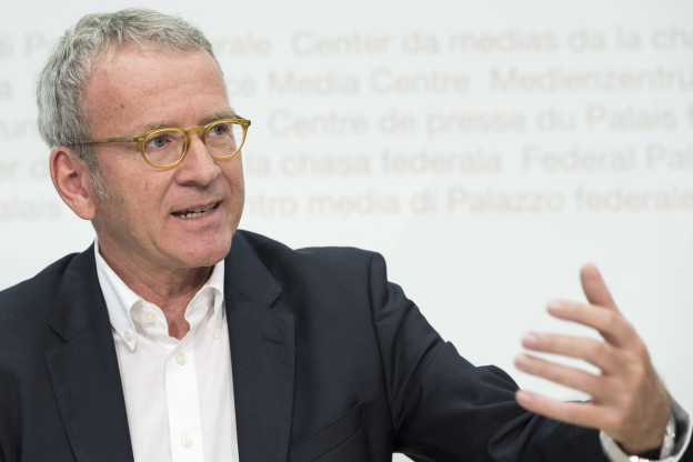 Der Eidgenössische Datenschutz-Beauftragte Adrian Lobsiger während seiner Jahresmedienkonferenz am 25. Juni 2018