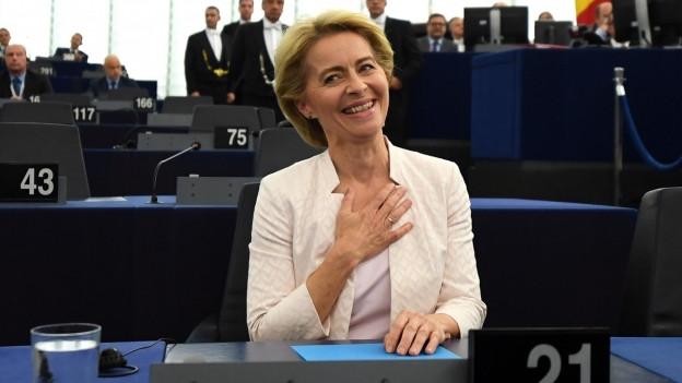 Die neu gewählte EU-Kommissionspräsidentin Ursula von der Leyen.