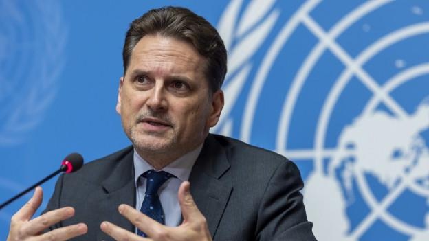 Das Bild zeigt den UNRWA-Direktor Pierre Krähenbühl.
