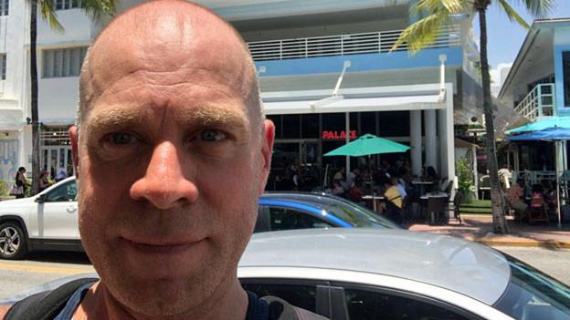 Matthias Kündig unterwegs auf der Collins Avenue in Miami Beach.